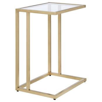 Table d'appoint en métal et en verre