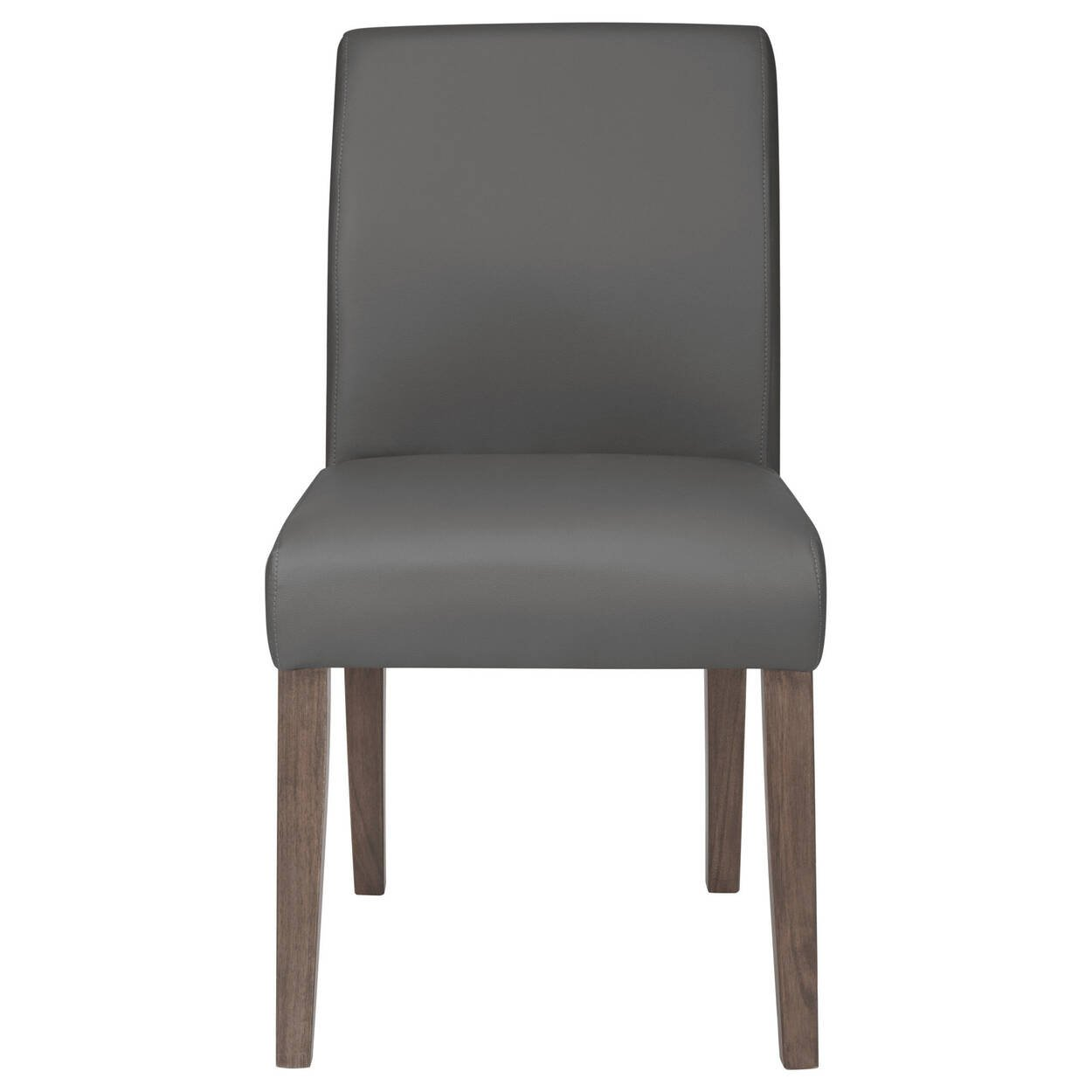 Faux Leather And Wood Dining Chair