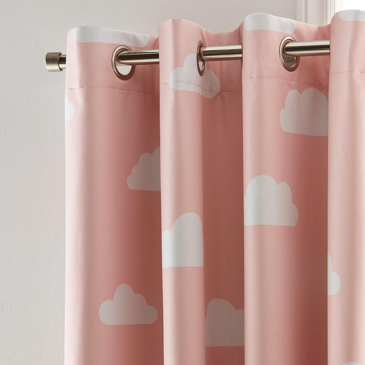 Cloud Print Blackout Curtain