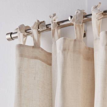 Adela Tie Top Sheer Curtain