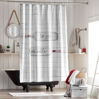 La Vie Est Belle Shower Curtain