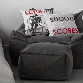"""Coussin décoratif hockey Thomas 19"""" x 19"""""""