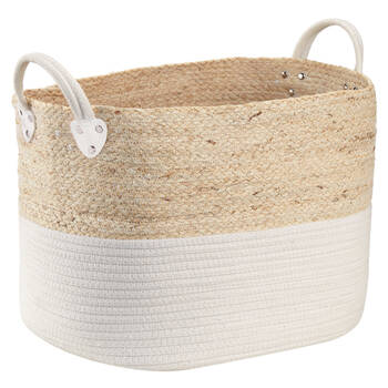 Corn Fibre and Cotton Rope Storage Basket