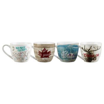 Set of 4 Canada Mugs