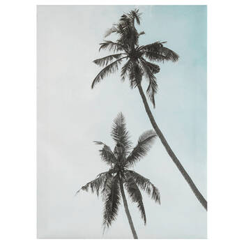 Under The Coconut Trees Printed Canvas
