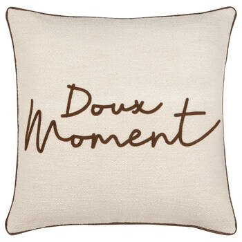 """Coussin décoratif Doux moments 19"""" x 19"""""""