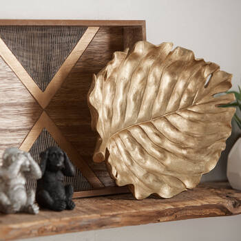 Gold Embossed Leaf Tray