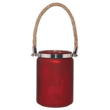 Deer Glass Lantern with Rope Handle