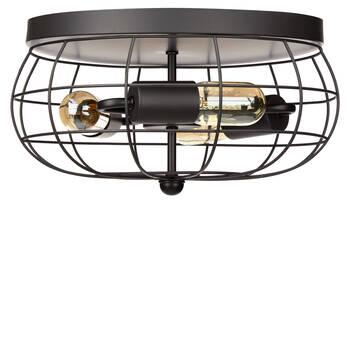 Metal Cage Ceiling Lamp