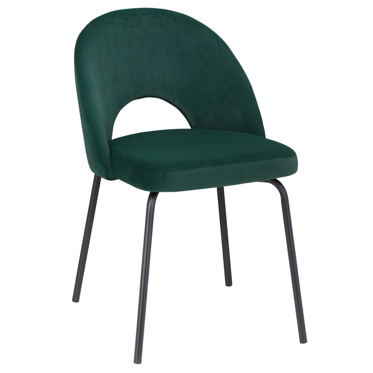 Velvet and Metal Dining Chair