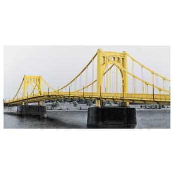 Yellow Bridge Printed Canvas