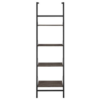Four-Tier Wall Ladder Shelf
