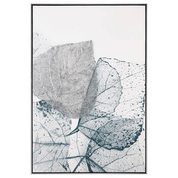 Leaves Printed Textured Framed Art