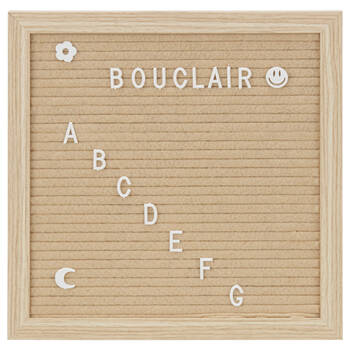 Natural Message Pegboard