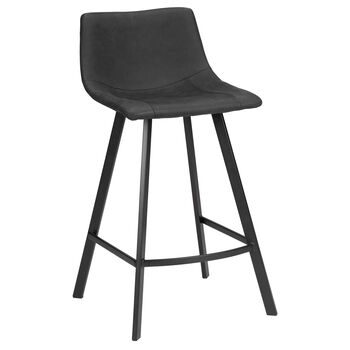 Fabric and Metal Bar Stool