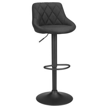 Quilted Fabric and Metal Bar Stool