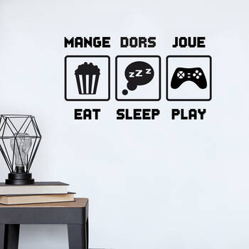 Eat Sleep Play Wall Sticker