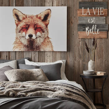 La Vie Est Belle Wood Wall Art
