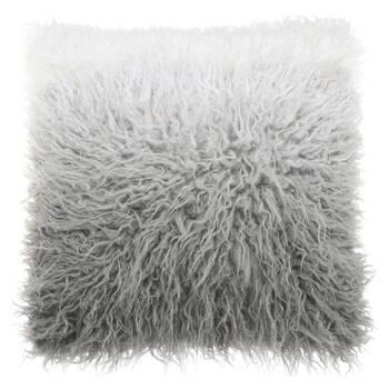 "Naadam Ombre Faux Fur Decorative Pillow 19"" x 19"""