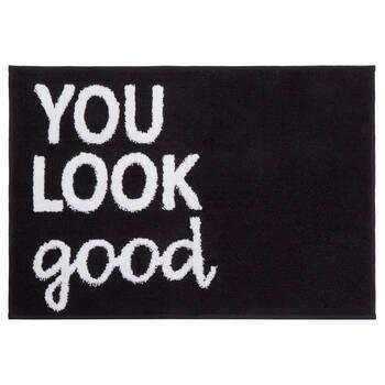 You Look Good Black Bathmat