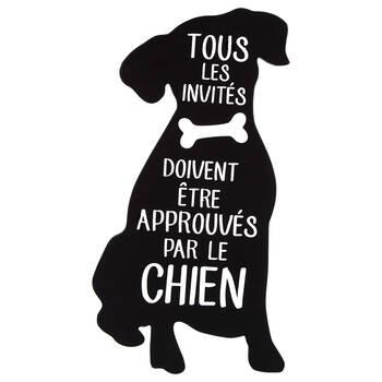 Decorative Dog Plaque with Typography