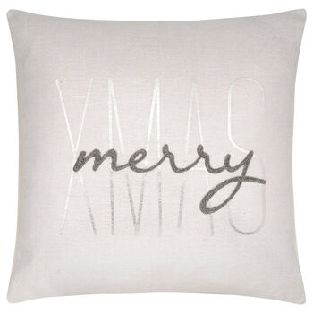 "Merry Xmas Decorative Pillow 17"" x 17"""