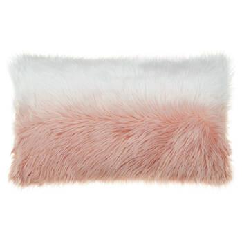 """Gobi Ombré Faux Fur Decorative Lumbar Pillow 13"""" X 22"""""""