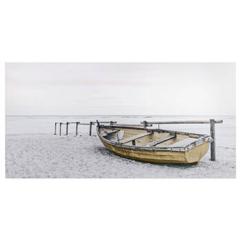 Deserted Boat Printed Canvas