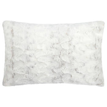 "Hare Faux Fur Decorative Lumbar Pillow 14"" X 22"""