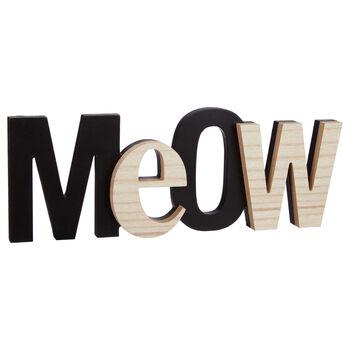 Mot décoratif Meow