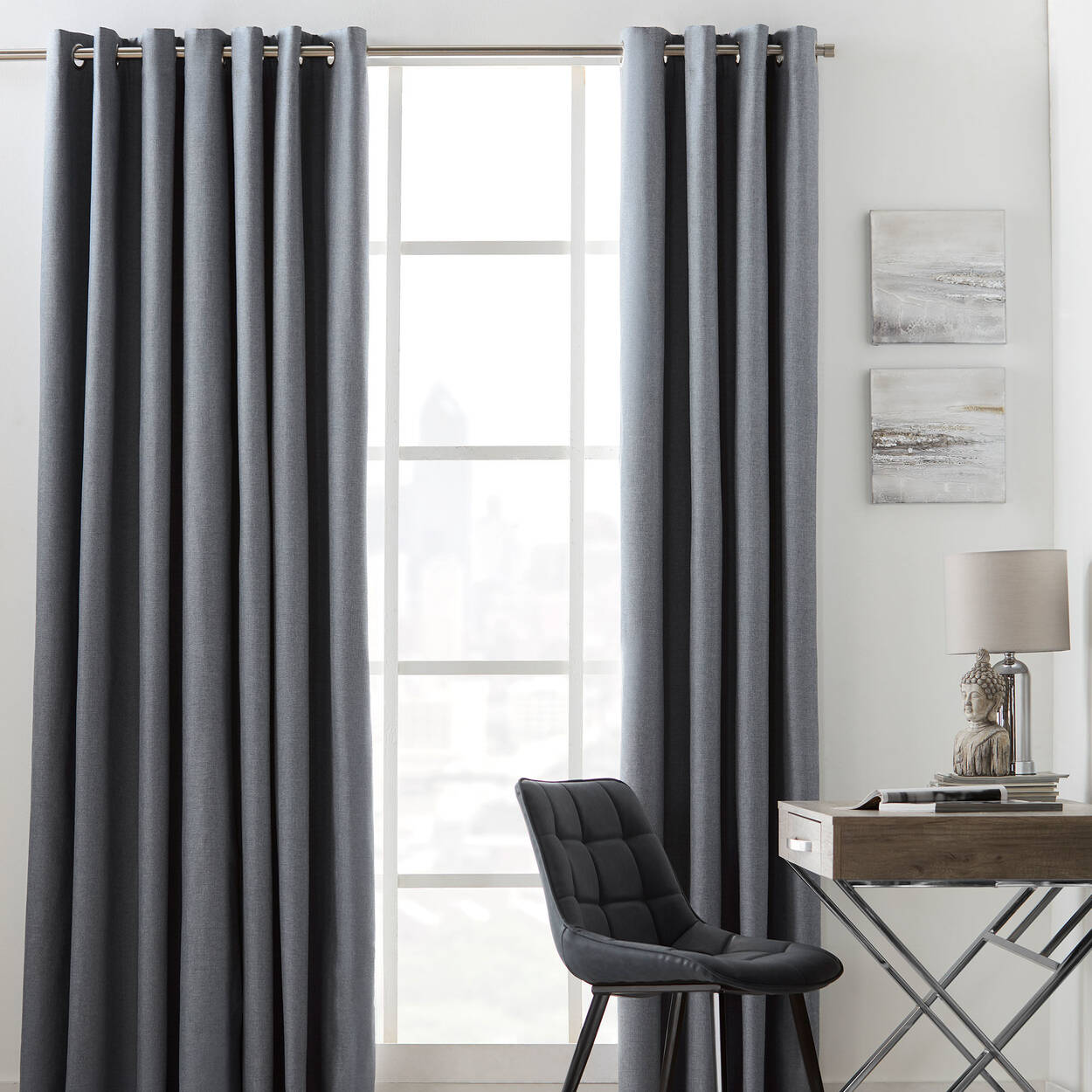 blackout black curtain homescapes pair pleat pink pencil curtains out