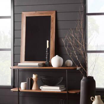 Wood-Like Frame Mirror