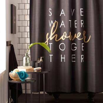 Rideau de douche Save Water