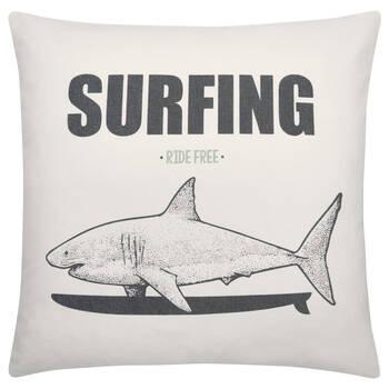 "Surfing Decorative Pillow 19"" x 19"""