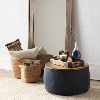 Natural Fiber Storage Basket