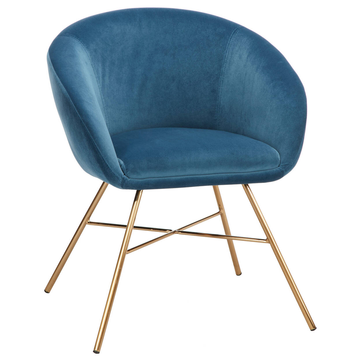 1081a50989 Velvet and Metal Lounge Chair | Bouclair.com