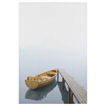 Boat and Dock Printed Canvas