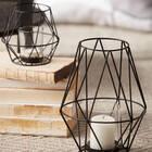 Porte-chandelle géométrique en métal