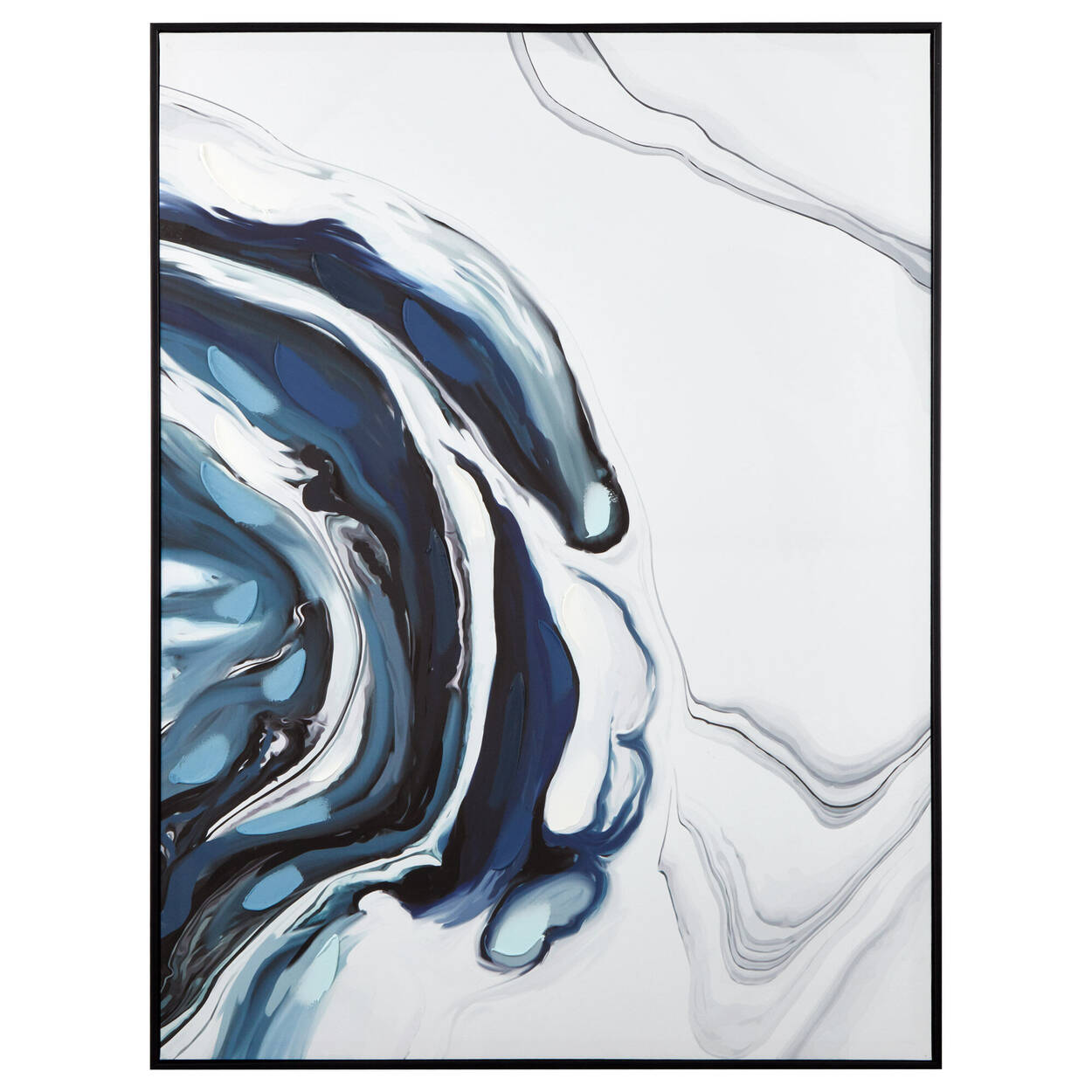 Cadre marbre abstrait embelli au gel