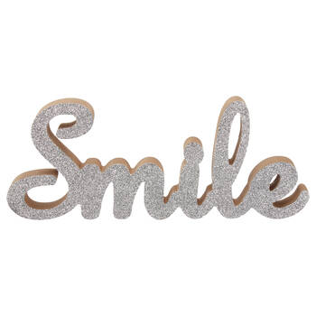 Decorative Glitter Word Smile