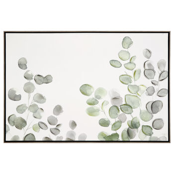 Gel-Embellished Eucalyptus Printed Canvas