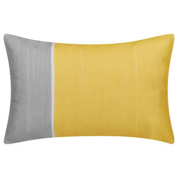 "Two-Toned Water-Repellent Decorative Lumbar Pillow 13"" X 20"""
