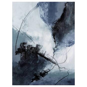 Deep Blue Printed Canvas