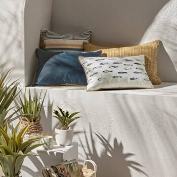 "Fish Water-Repellent Decorative Lumbar Pillow 13"" X 20"""