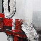 Tableau abstrait peint à l'huile