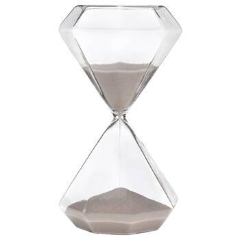 Sablier décoratif en verre géométrique