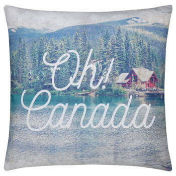 "Oh! Canada Decorative Pillow 18"" X 18"""