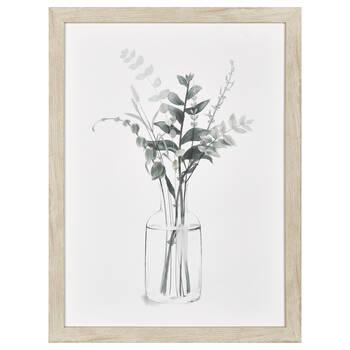 Printed Eucalyptus in Vase Framed Canvas