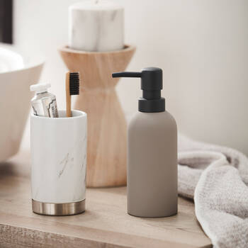 Rubber Coated Soap Dispenser