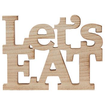 Decorative Words Let's Eat